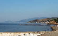 На побережье Черного моря в Малореченском